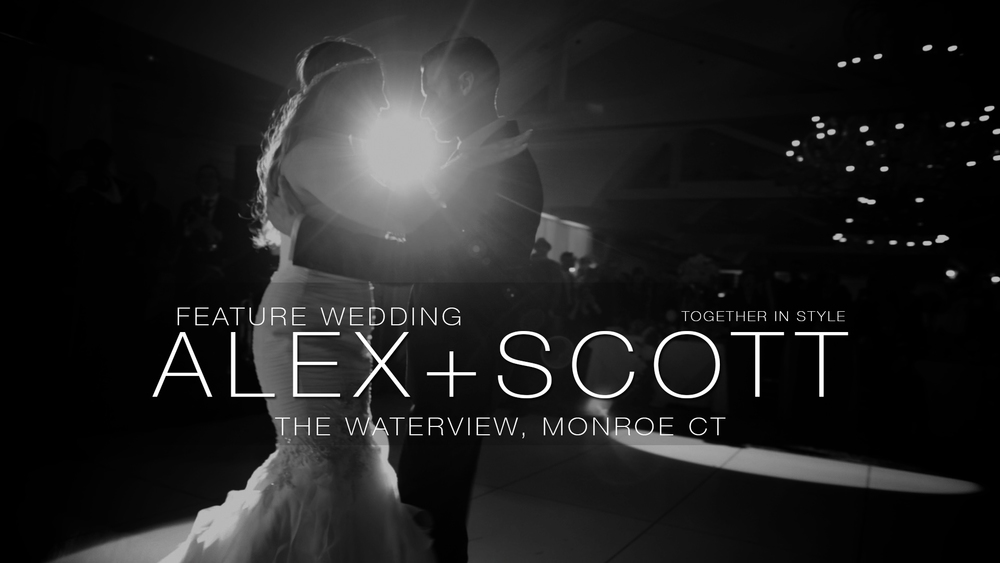 Alex and Scott dance to their first dance during their wedding reception at The Waterview in monroe, ct