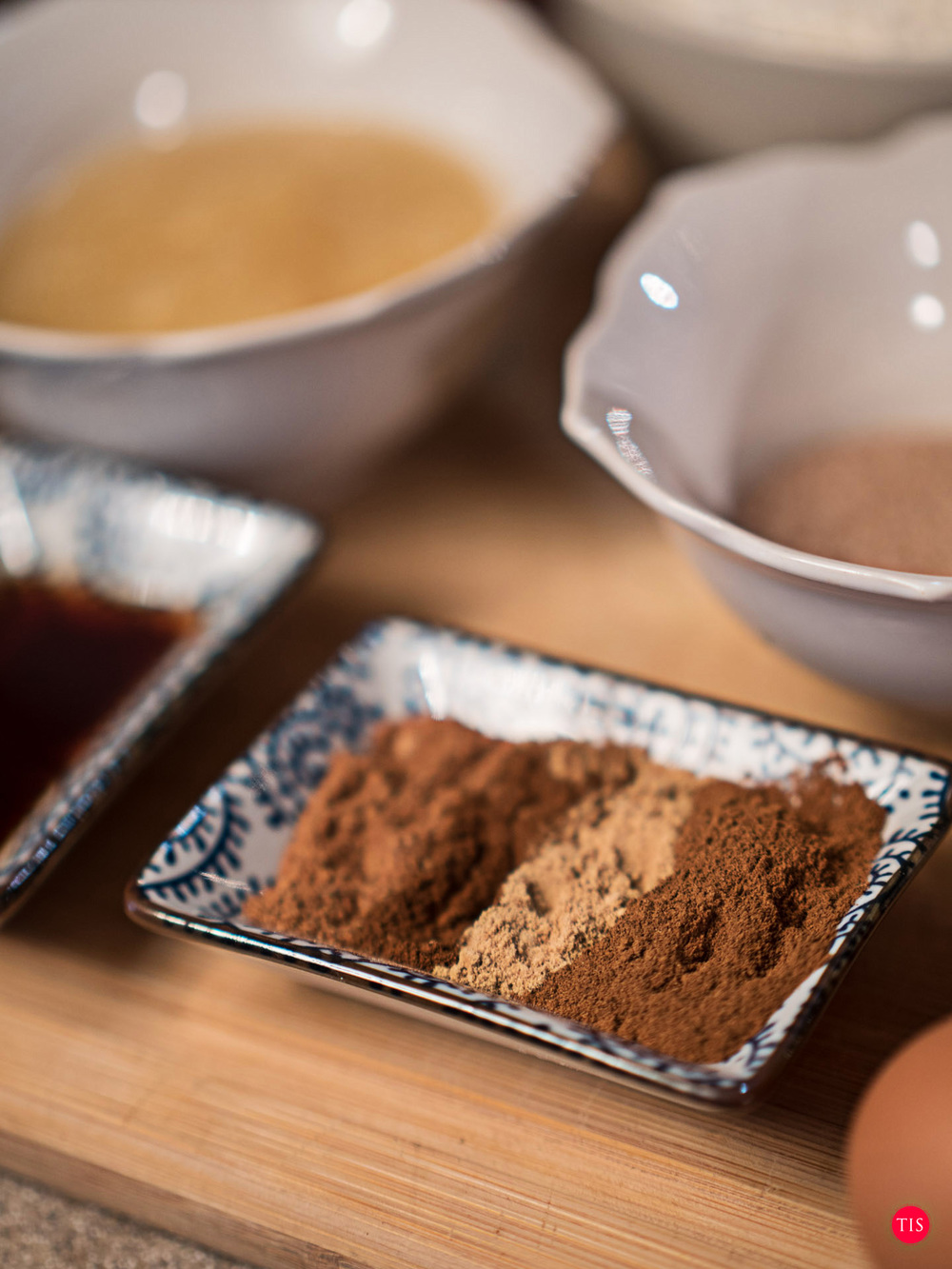 Cinnamon - Ground Ginger - ground cloves - nutmeg