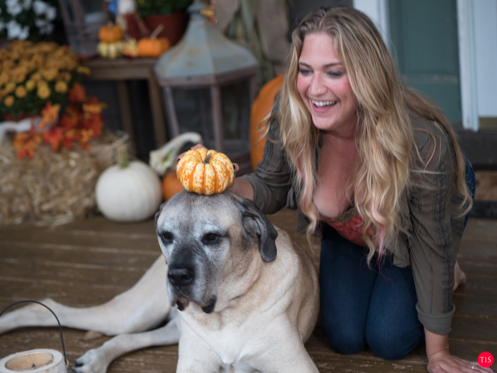 Jennifer Maring and Jellybean the English Mastiff