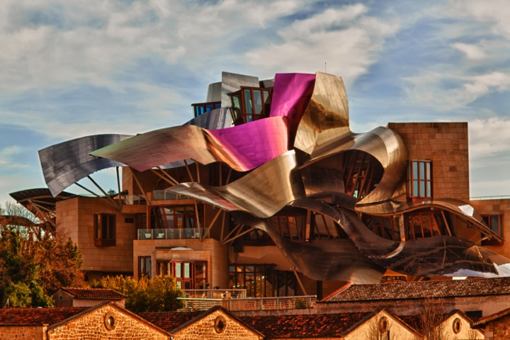 Hotel Marques de Riscal is a 5 Star hotel and vineyard located in the Rioja region of Spain.