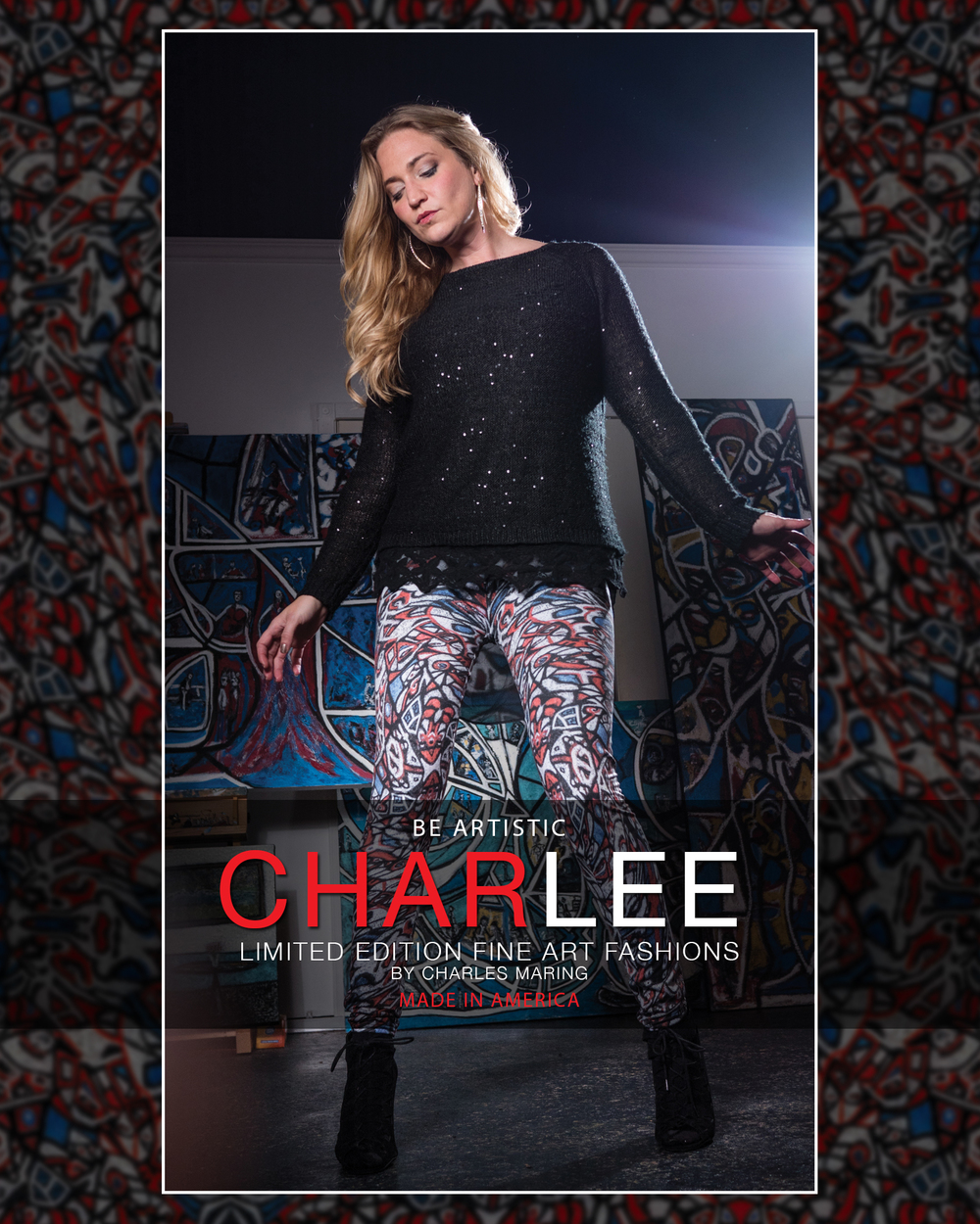 Charlee limited edition fine art fashions by Charles Maring