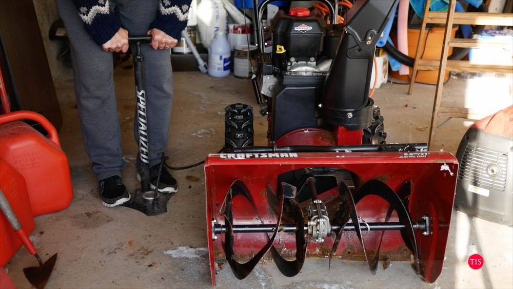 Getting the snowblower repaired and ready for winter...