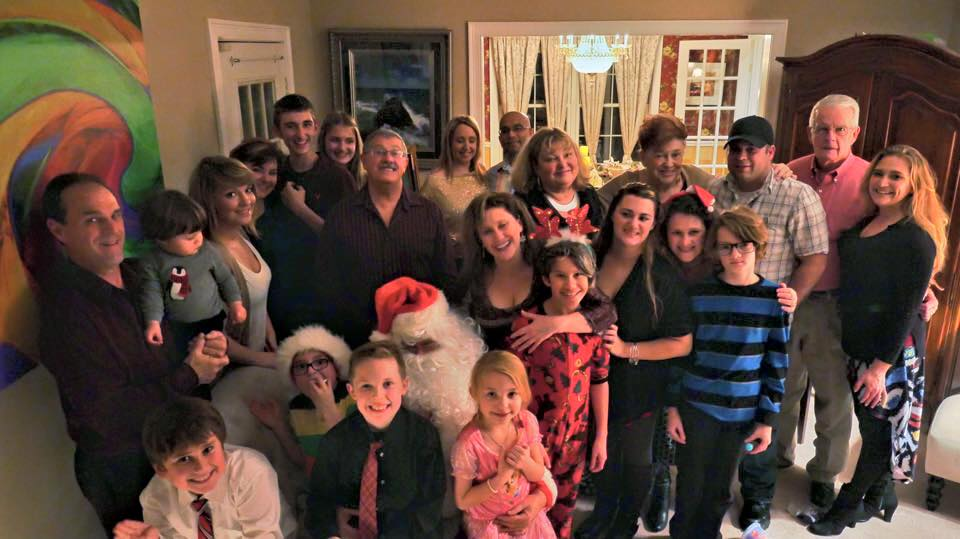 Christmas eve at the Maring home in ct