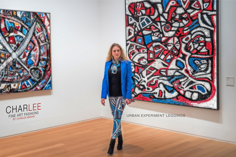 Charlee Urban Experiment Leggings and Paintings