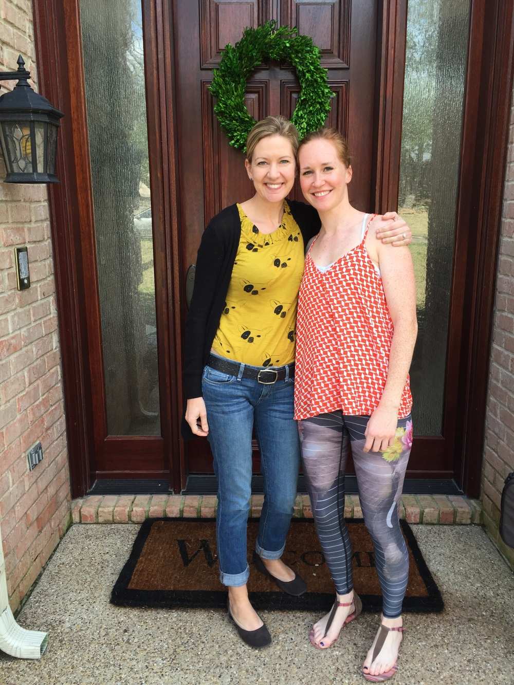 Me and Angie in Dallas, March 2015. After a great lesson - and I'm still smiling (and so is she!). Ignore the pants - my mom says they make me look like I have Gangrene. She doubts my yoga-chic fashion choices all of the time.