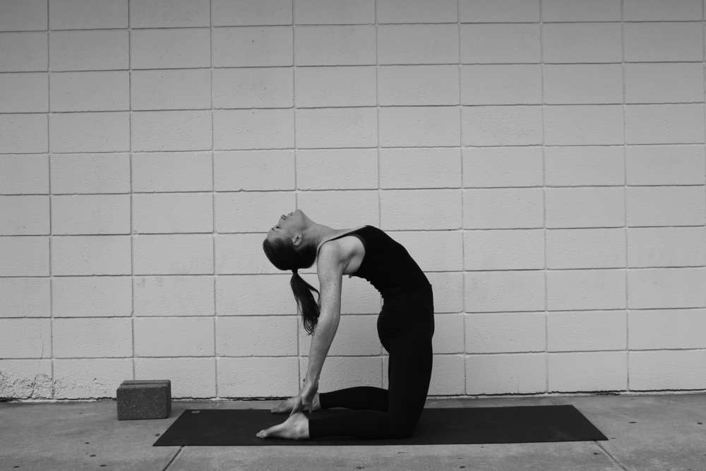 Ustrasana makes your heart sing! It also smoothes out those pectoral kinks after a long practice session and don't even get me started on the shoulders!