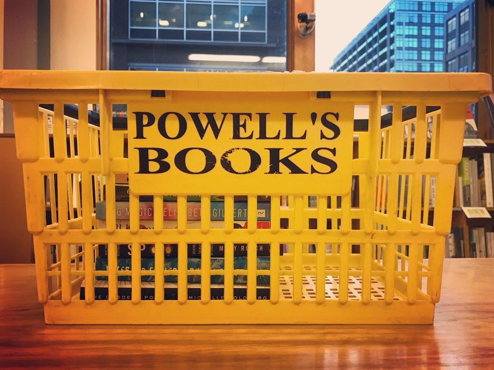 Shopping spree at Powell's.