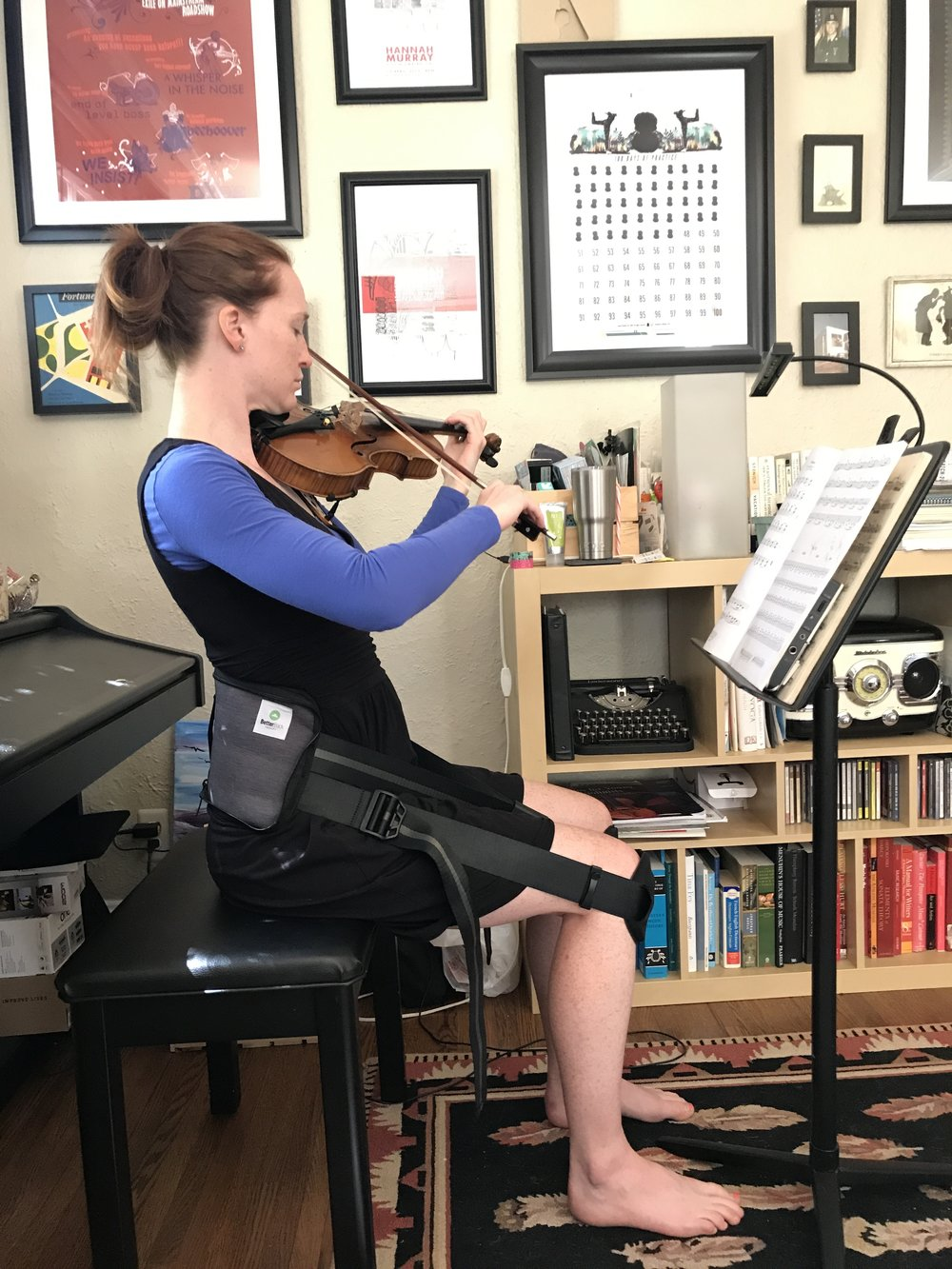 Sometimes when I'm tired, I like to sit down while I'm practicing BUT I don't want to slouch so I use the better back to help.