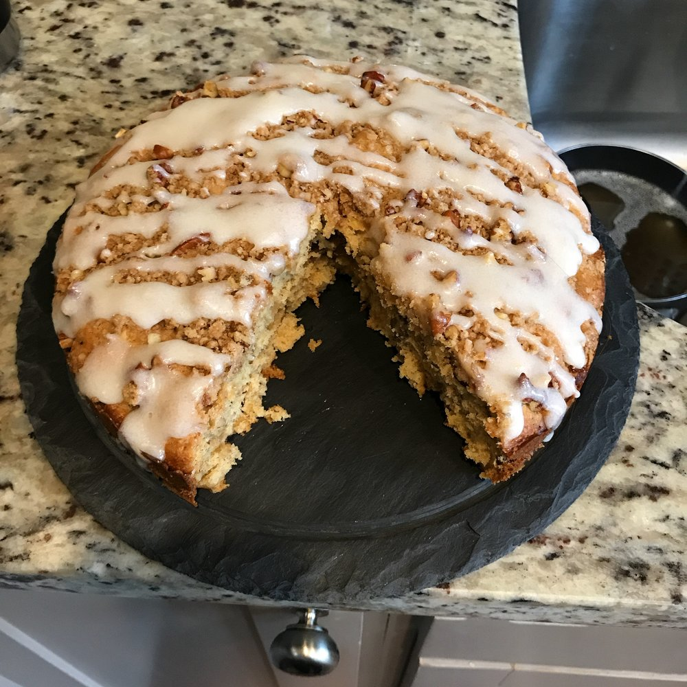 This was the first hummingbird cake I have ever made or eaten, but it won't be my last. It was delicious!
