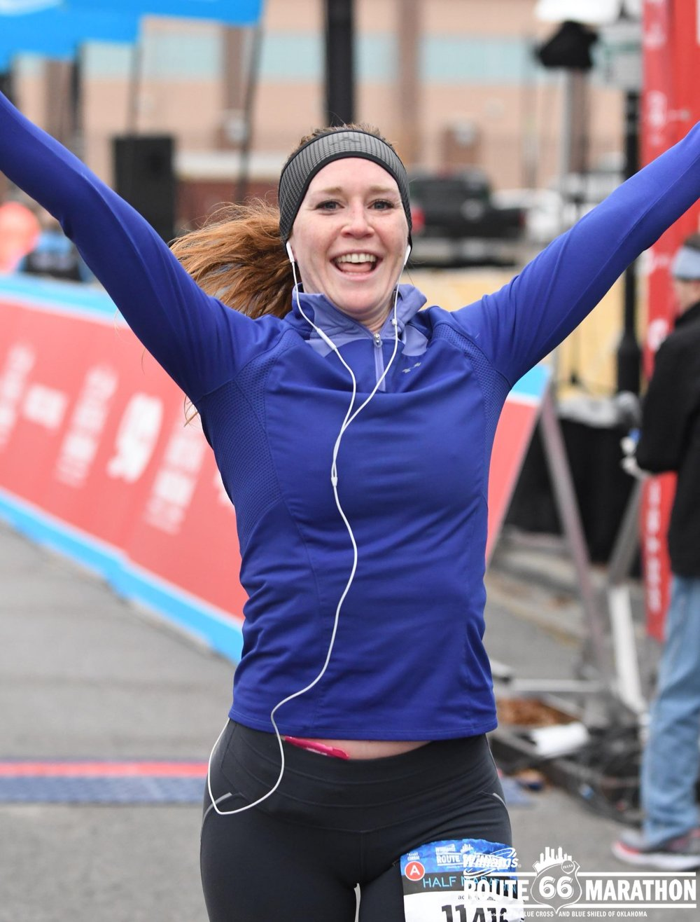 The Finish Line - …is never glamorous. This is from the Route 66 half marathon in November. It was so cold!