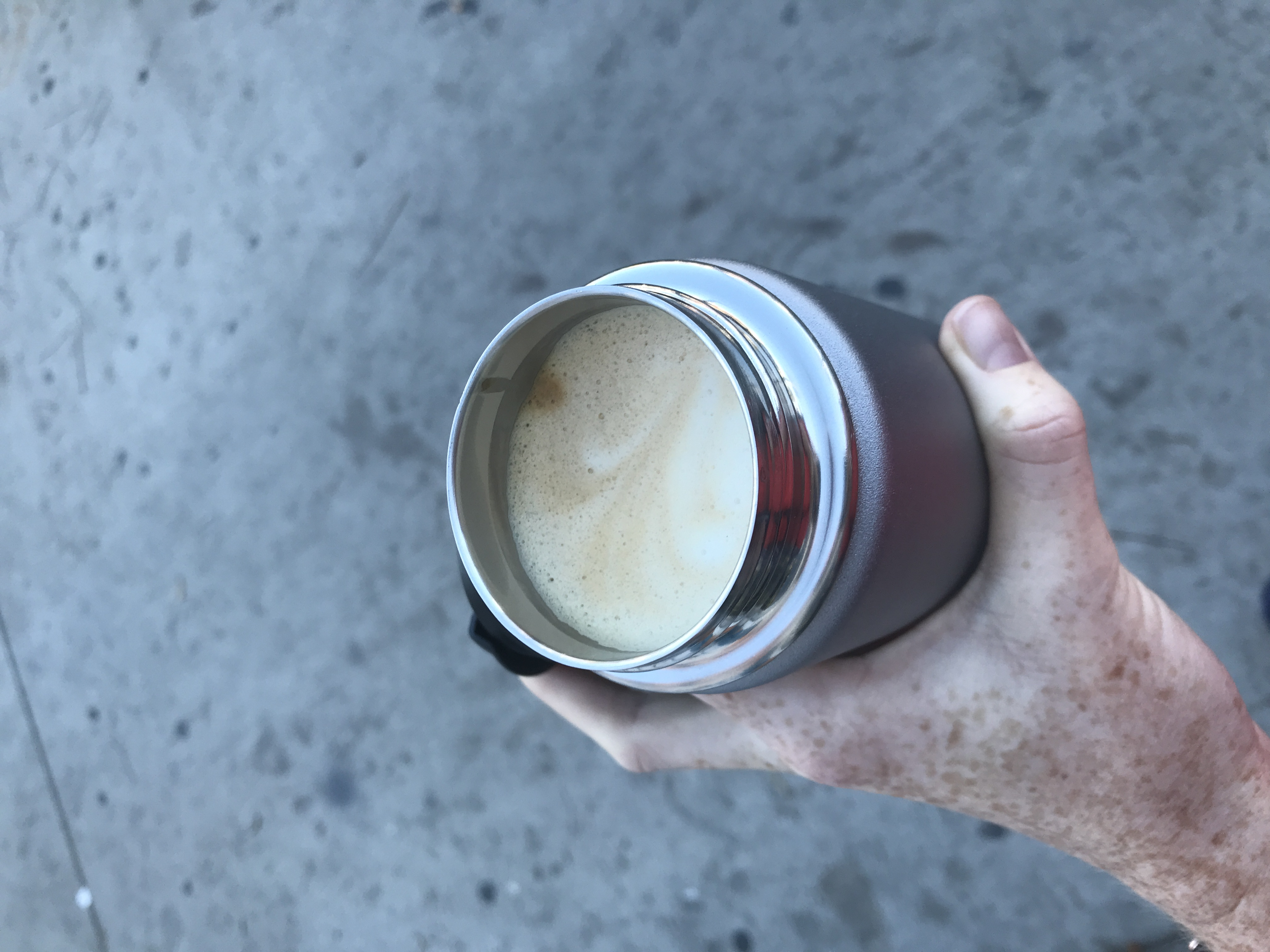 coffee to go! - Day 1 of 2019 I used my swanky thermos to take my latte on the road.