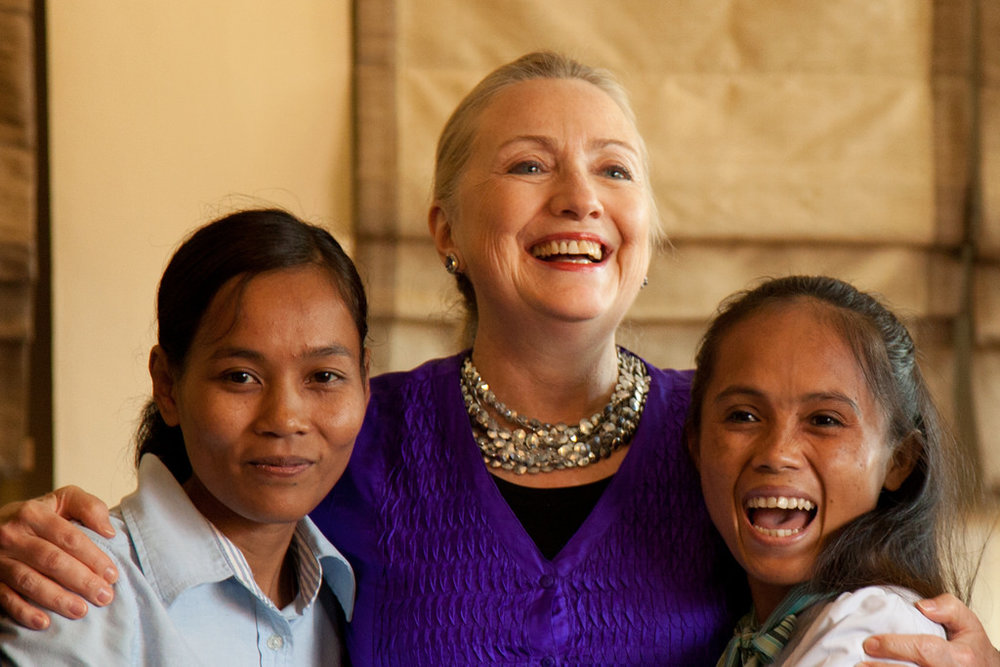 Secretary of State Clinton with women from Lower Mekong Women's Initiative in 2012   Photo courtesy State Department by Paul Watzlavick