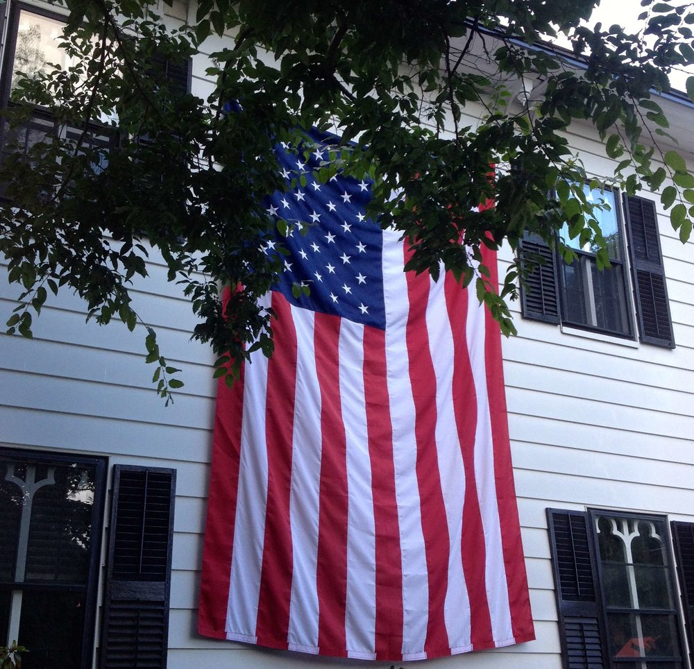 A flag in Northampton, MA