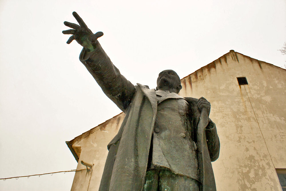 Lenin monument (Hand not actual size)