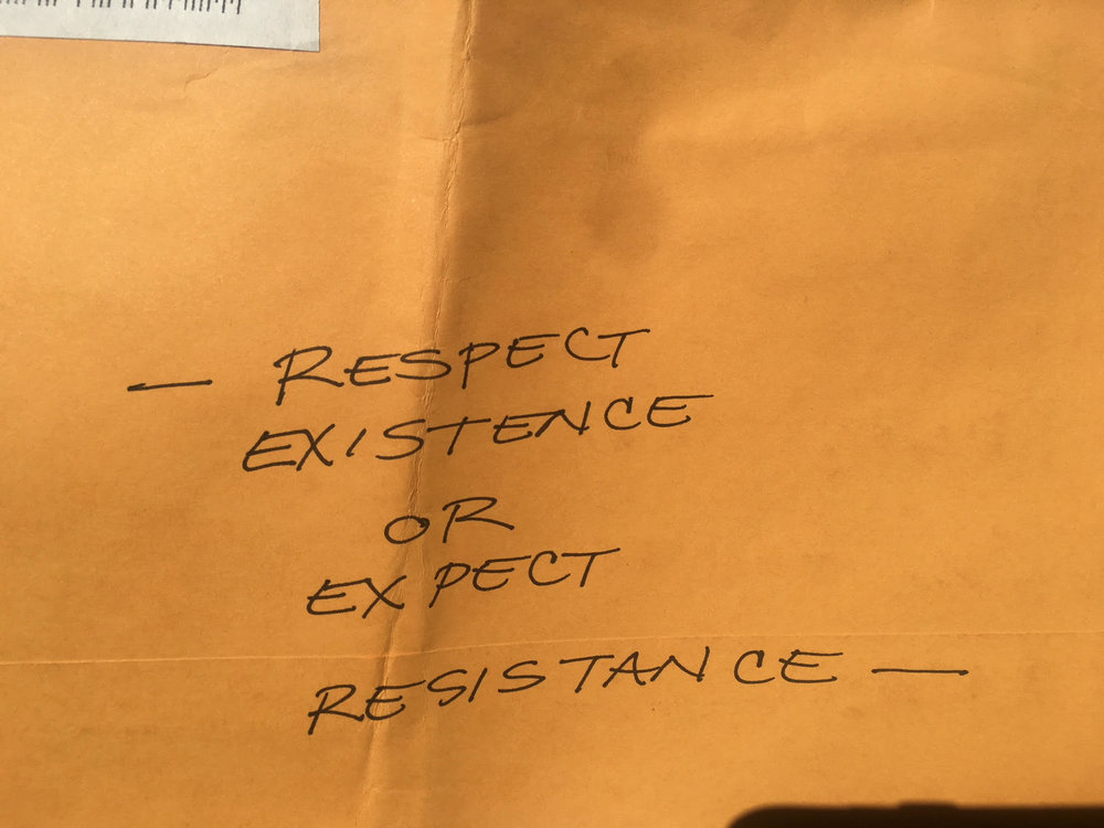 Written on an envelope from a friend.