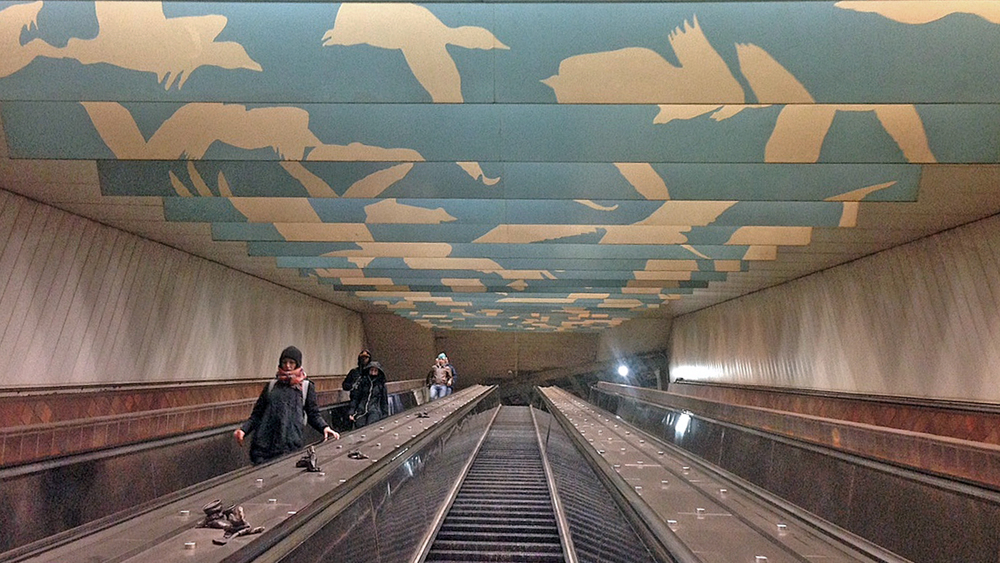 Porter Square Subway Station. Photo: Elisa Hamilton