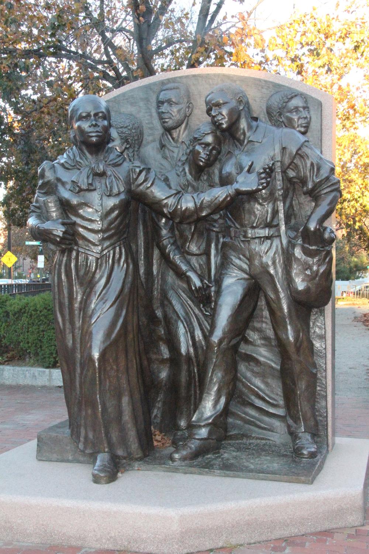 "Fern Cunningham, ""  Step On Board/Harriet Tubman Memorial ,"" 1999. Bronze."