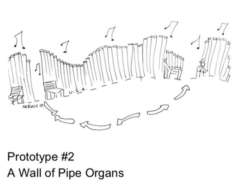 J.M. Design Studio's A Wall of Pipe Organs Detail Image courtesy of  J.M. Design Studio