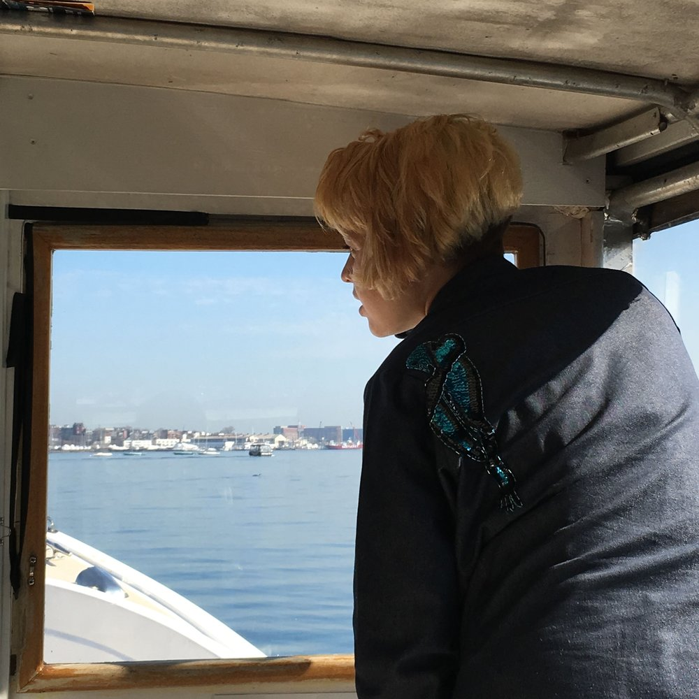 MIT Media Lab research assistant Mirium Simun explores Boston Harbor