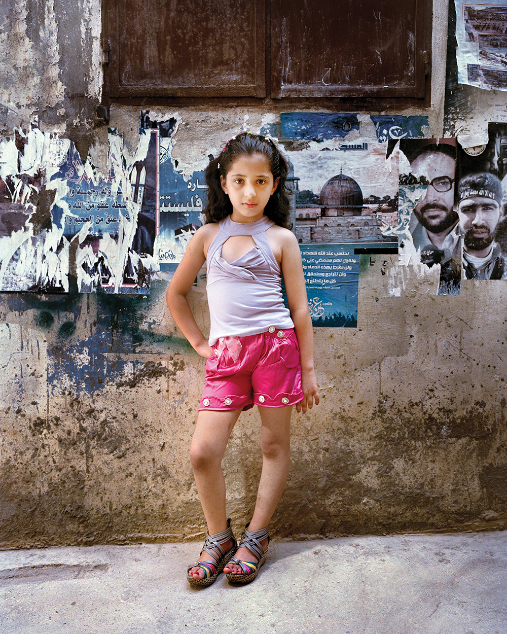 Dania at 9, Bourj El Barajneh Refugee Camp, Beirut Lebanon , 2011. Courtesy of Carrol and Sons.