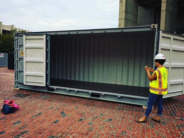 Slideshow shipping container at HUBWeek
