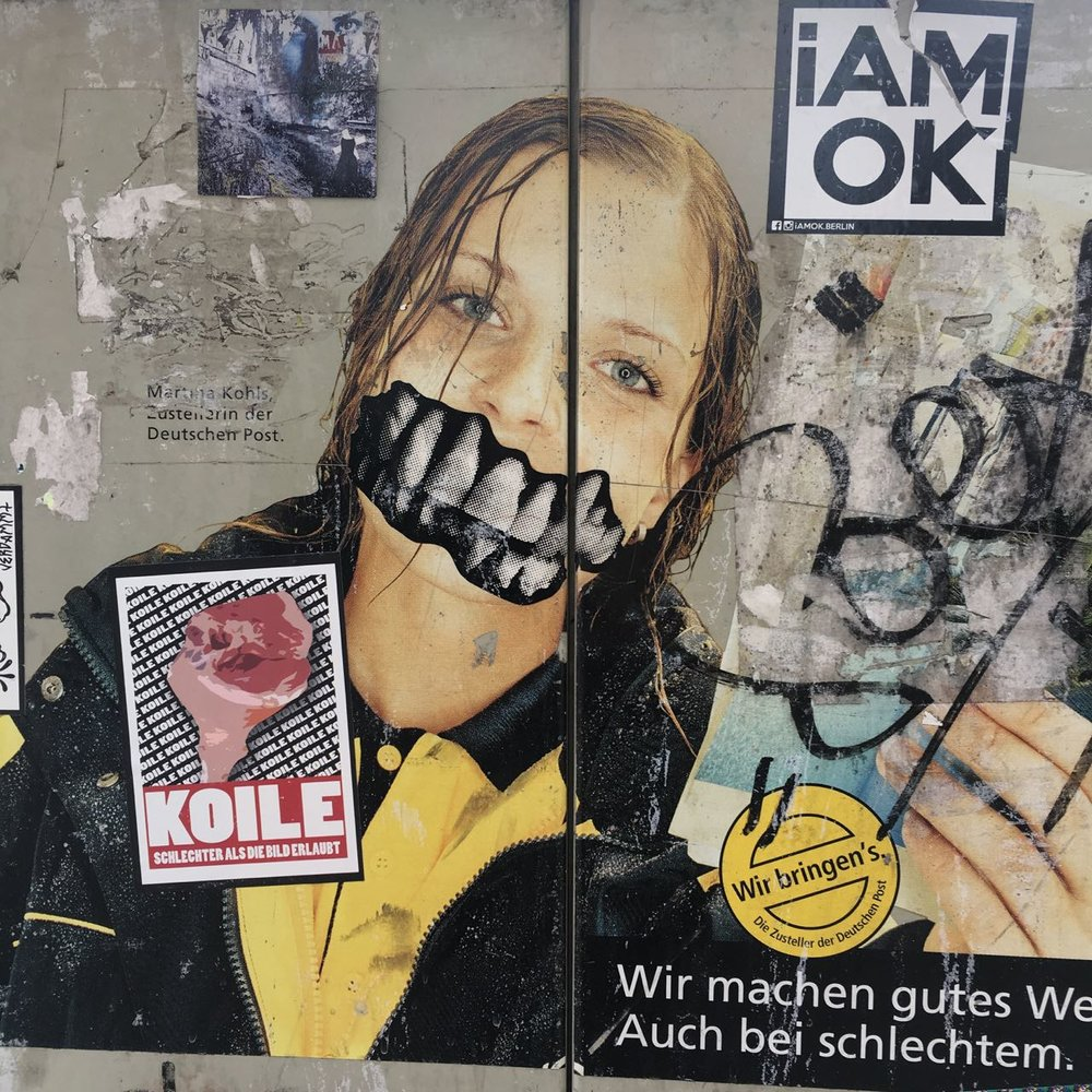 Berlin street art begs to be heard.