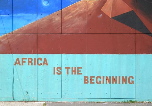 Africa Is the Beginning    by Gary Rickson, photo provided by   Anulfo Baez   via   architects.org.