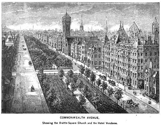 Commonwealth Avenue & The Commonwealth Avenue Mall c. 1881