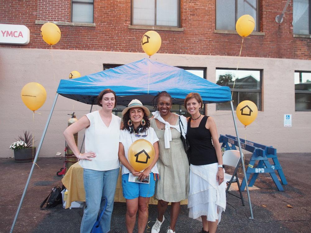 Me with artist Leah Maria Giraldo, N+T board member Charla Jones, and N+T Director, Kate Gilbert