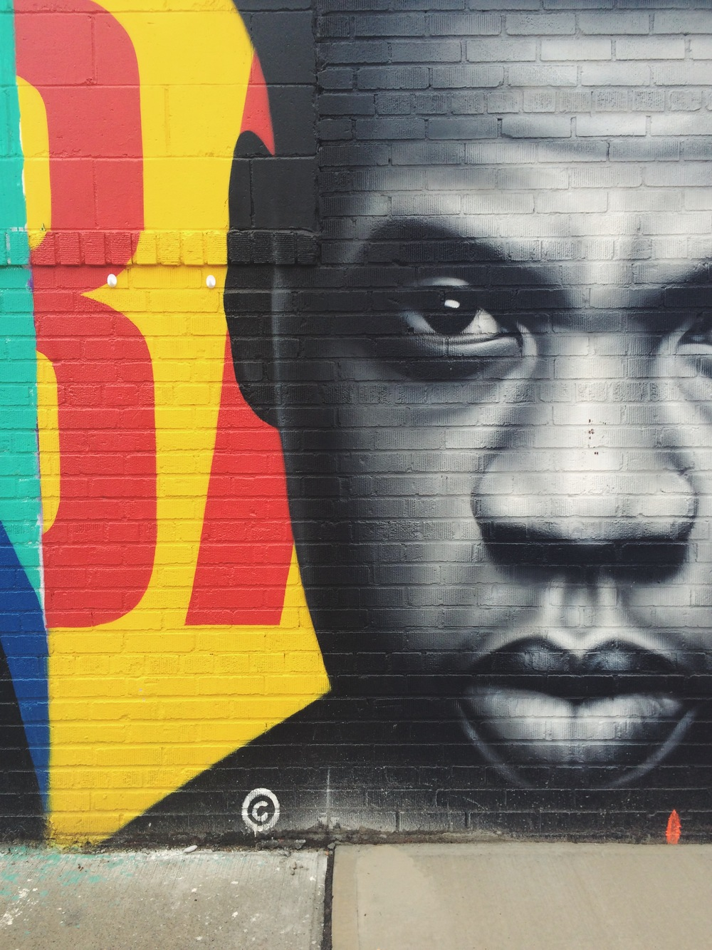 A portrait of JZ on the Graffiti tour in Brooklyn.
