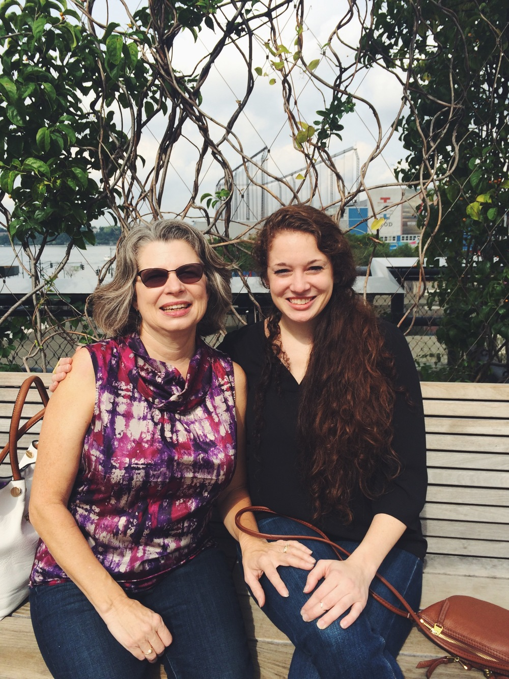 Me and my mom on the Highline Walking Tour.