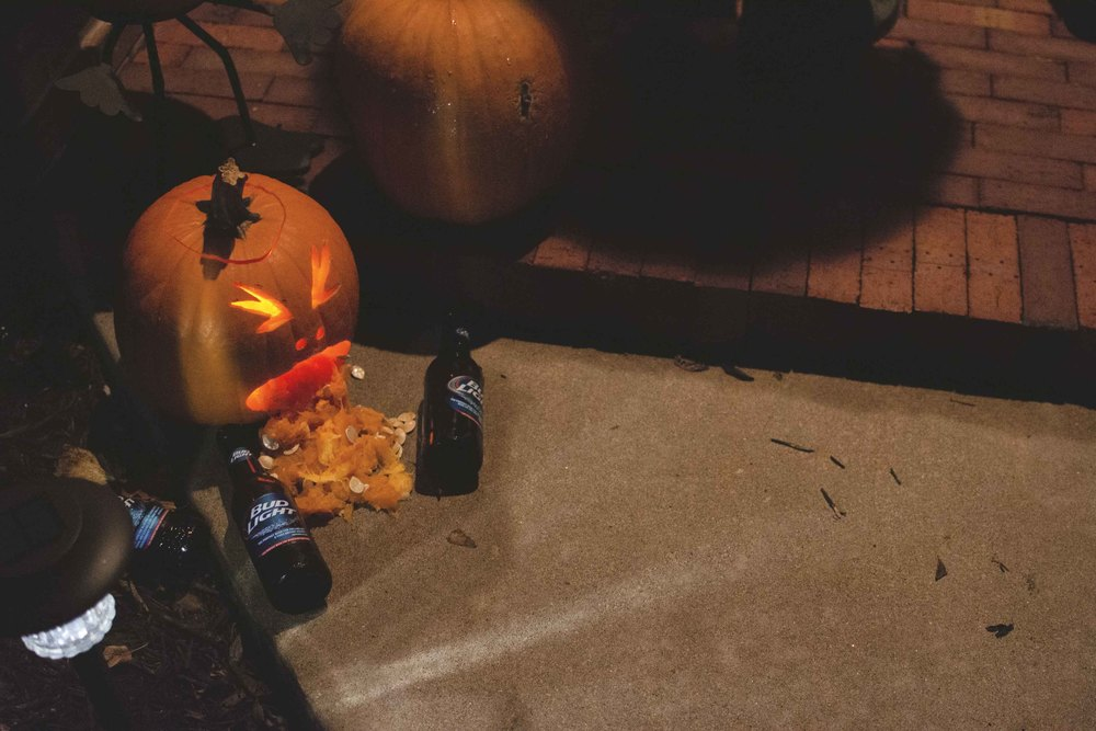 Pumpkin art at the house we went to. Pretty clever if you ask me!