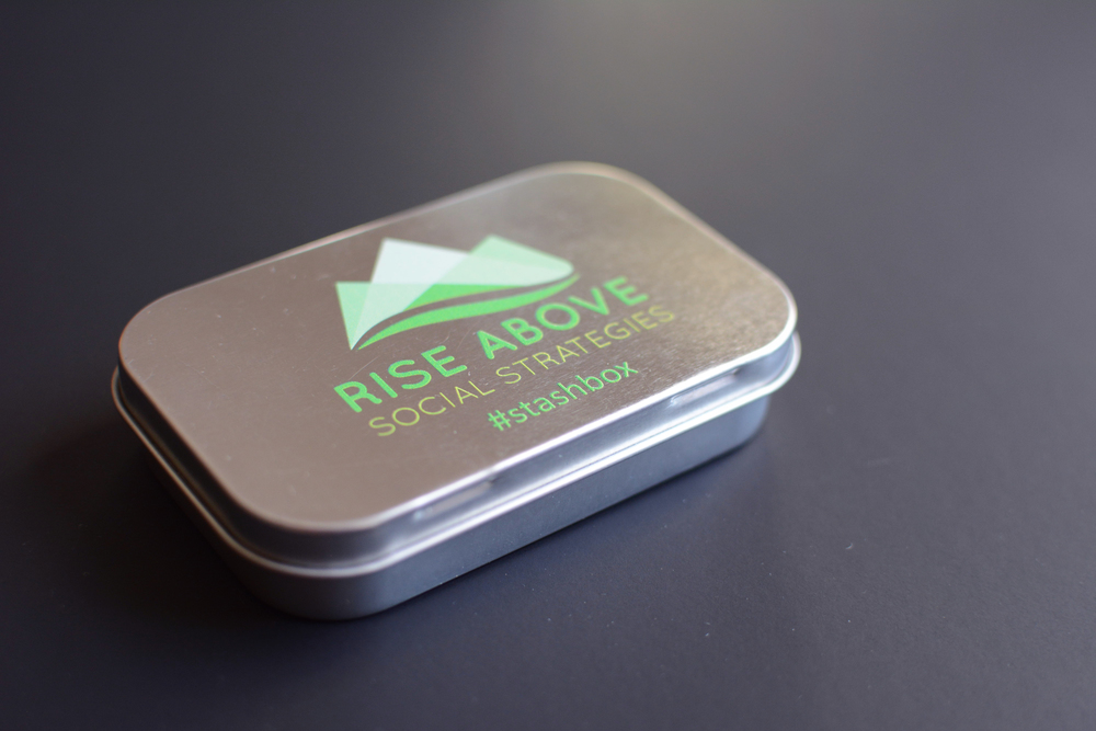 Lauren's company, Rise Above Social Strategies, donated these awesome stash boxes to the Leader welcome bags