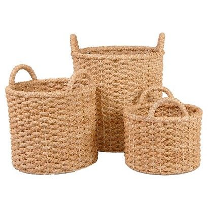 Metro Round Full-Braided Seagrass Storage Baskets / Target $79.99