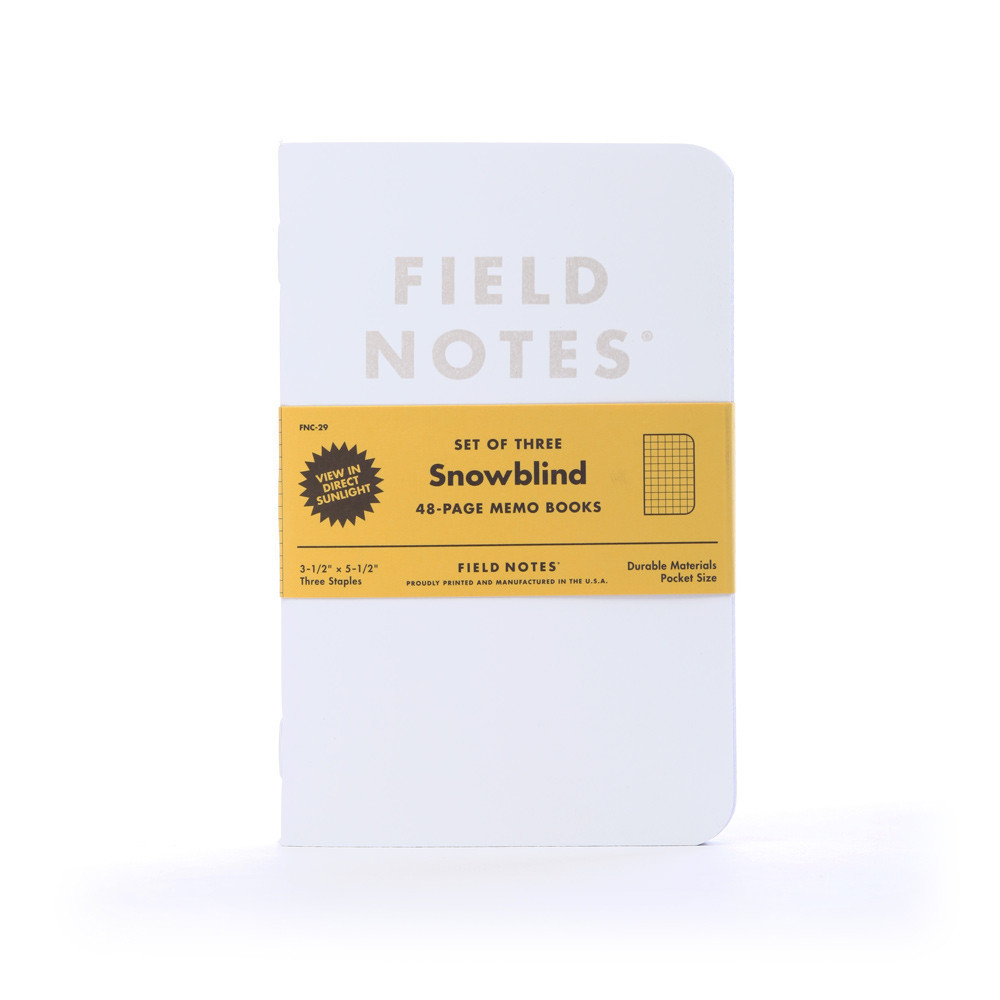 Field Notes Brand Snowblind Limited-Edition Notebooks 3-Pack / Maker $9.95