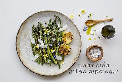 Medicated Grilled Asparagus  by Monica Lo