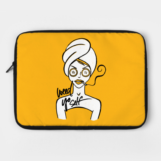weed-yo-self-laptop-case-kristen-wiliams-designs