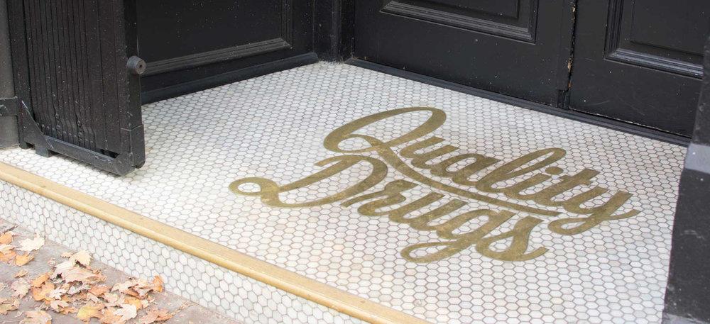 Custom flooring for outside the storefront