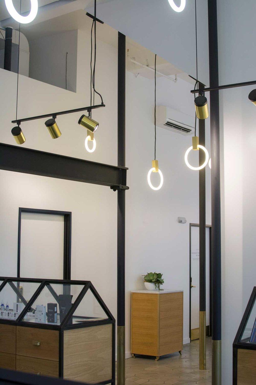 Serra uses custom lighting