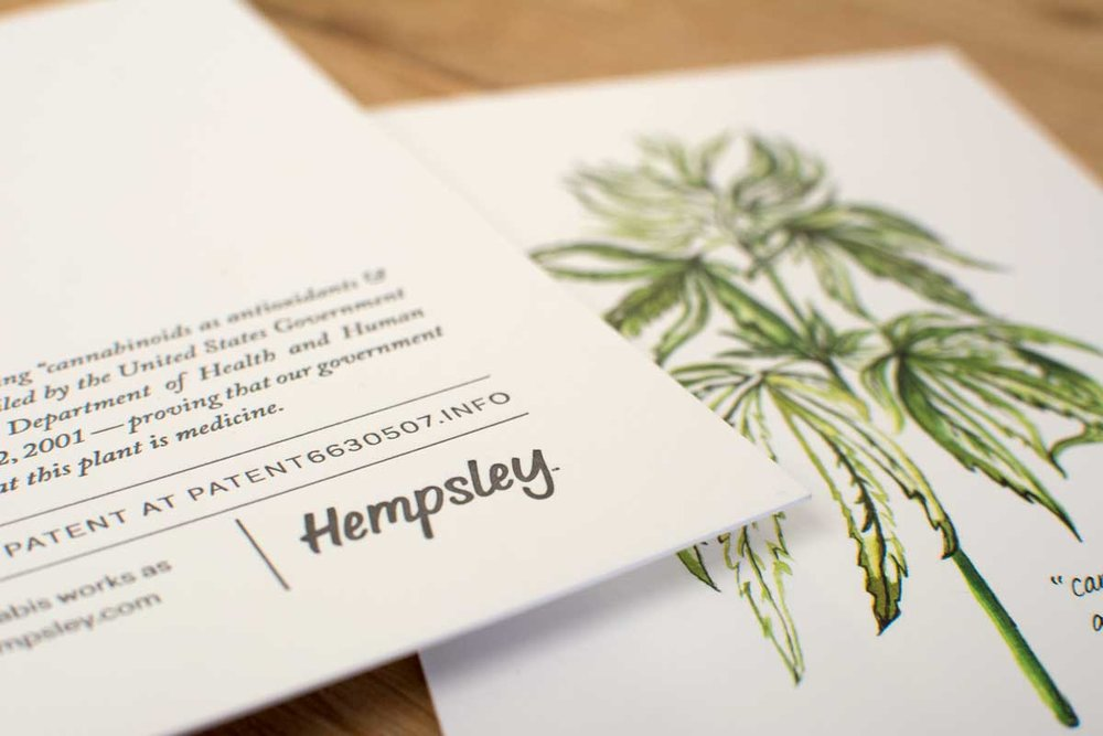 watercolor-botanical-cannabis-illustration-letterpressed-hempsley-kristen-williams-designs