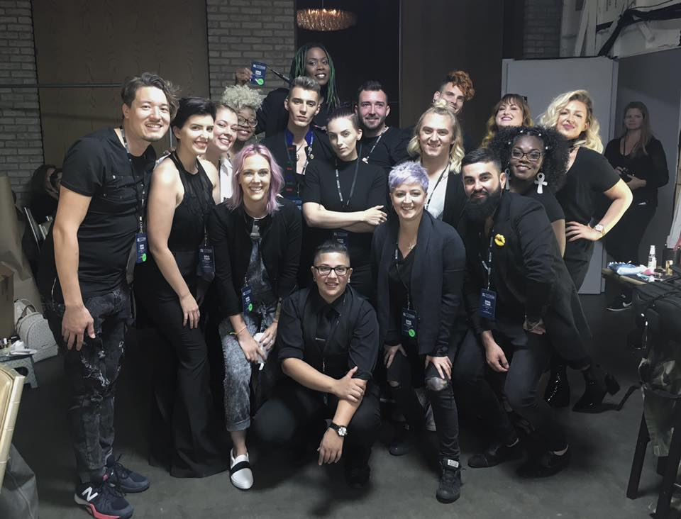 the Official Hair and Make up team for Nina Tiari's SS 18 fashion show