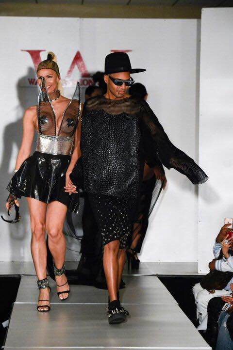 Model Claudia Charriez escorts Designer, Stevie Boi
