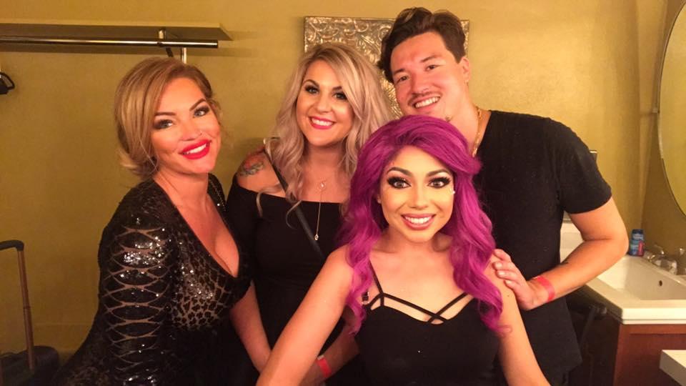 backstage with Nikki, Aundreya and make up artist, Charisma Star