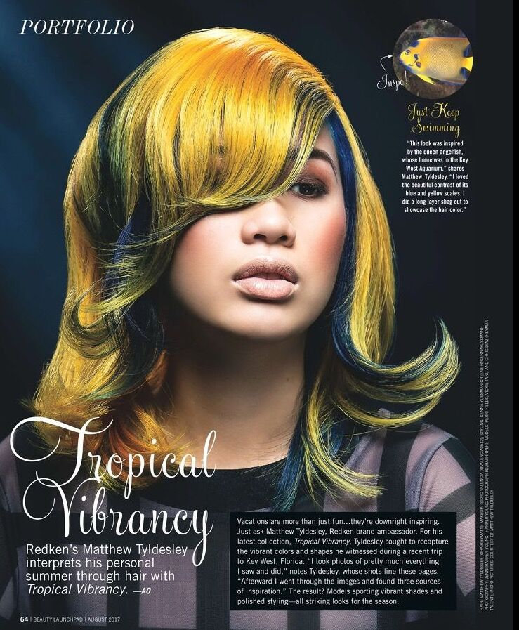 tearsheet from Beauty Launchpad Magazine