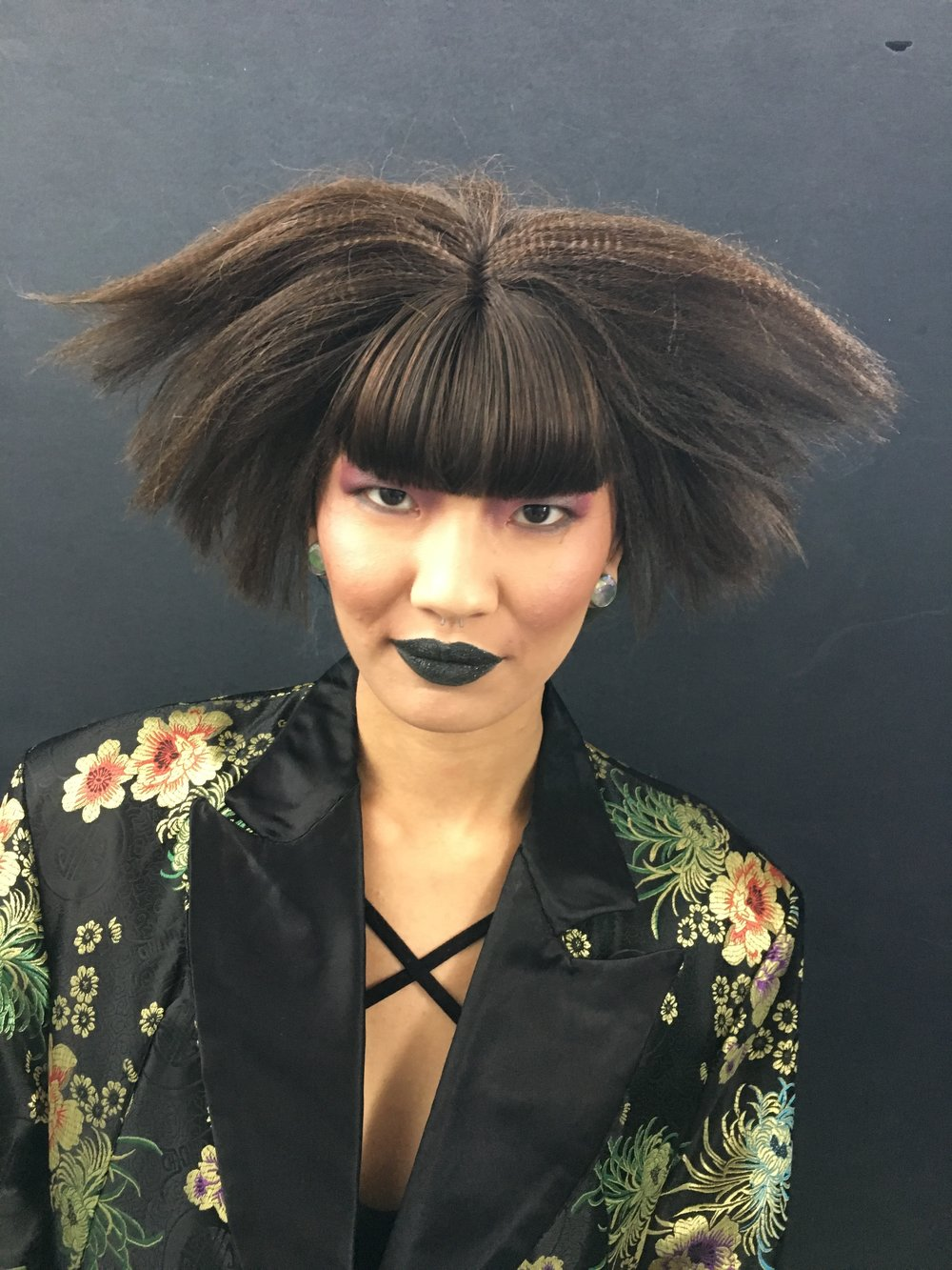 bts image of Mei Li all about the fringe