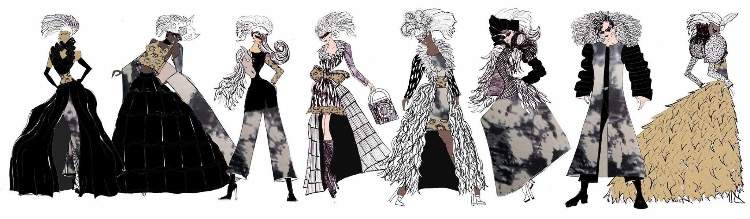 Genna Yussmans original design sketches/concept