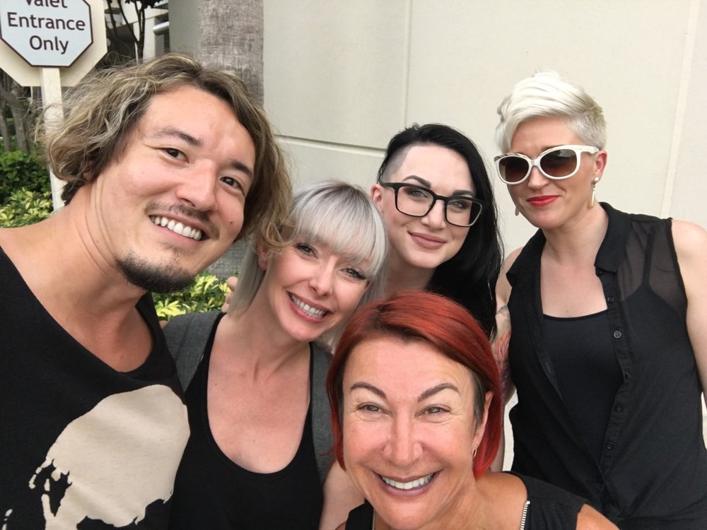Redken artists with legendary, Sonya Dove