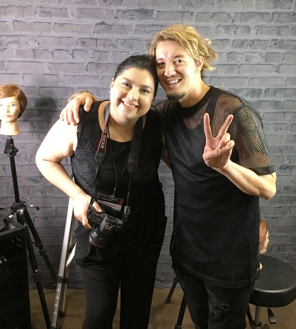 with Redken digital, Saba