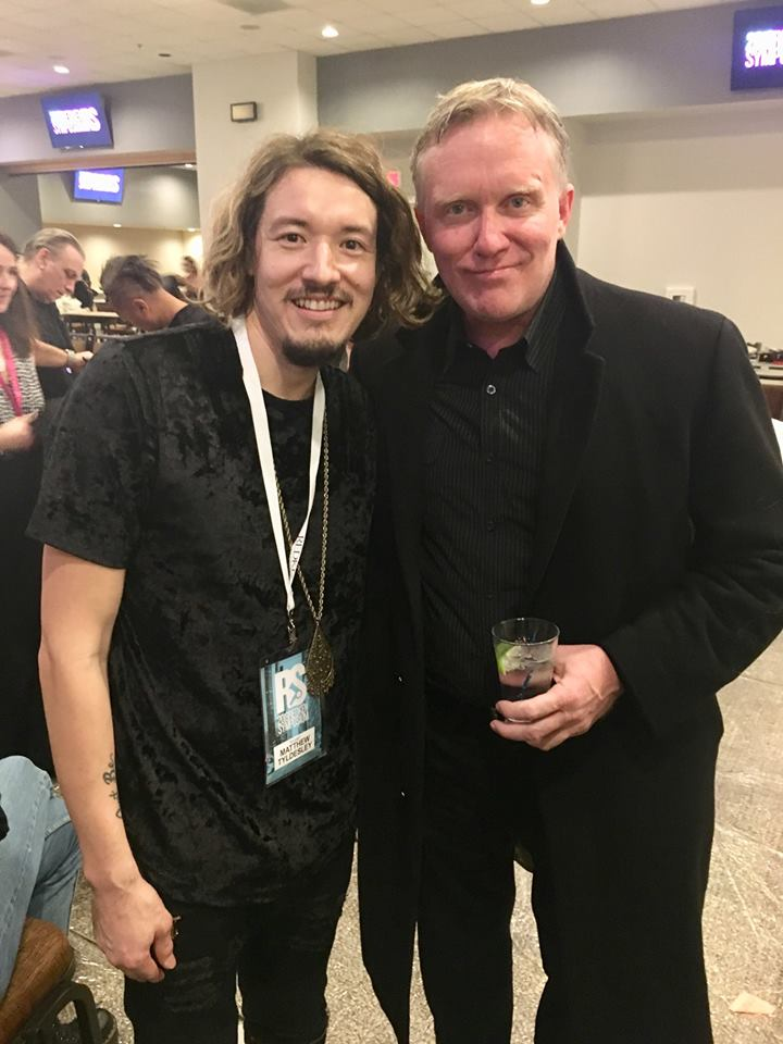 with actor, Anthony Michael Hall