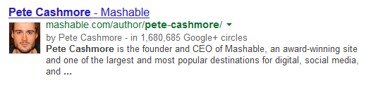 Pete Cashmore Search Engine Result